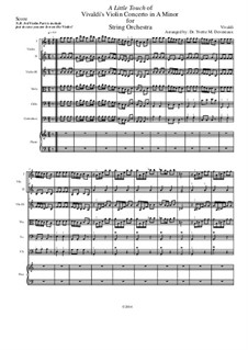 Concerto for Violin and Strings in A Minor: A Little Touch (Intermediate to Advanced) by Антонио Вивальди