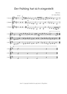 Der Frühling hat sich eingestellt: Trio für Violinen oder andere Melodieinstrumente, Op.01036 by folklore