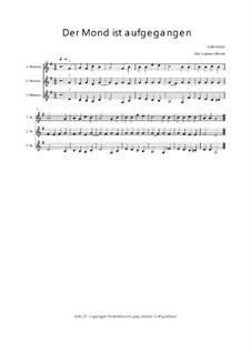 Der Mond ist aufgegangen - Trio für Violinen oder andere Melodieinstrumente: Der Mond ist aufgegangen - Trio für Violinen oder andere Melodieinstrumente, Op.01037 by folklore