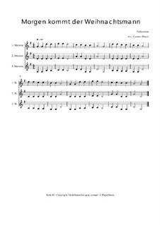 Morgen kommt der Weihnachtsmann: Trio für Violinen oder andere Melodieinstrumente, Op.010323 by folklore