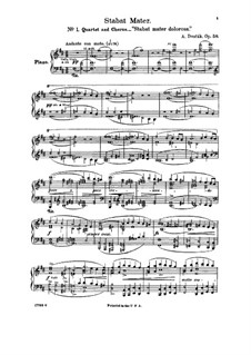 Стабат Матер, B.71 Op.58: Клавир с вокальной партией by Антонин Дворжак