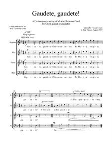 Gaudete, Gaudete: SATB by Joan Yakkey