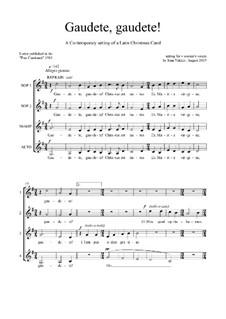 Gaudete, Gaudete: SSAA voices by Joan Yakkey