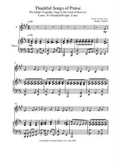 Thankful Songs of Praise: Score for two performers (in F) by Иоганн Штуэрляйн, George Job Elvey, Eduard Kremser