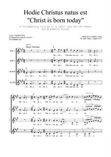 Hodie Christus natus est: SSAA by Joan Yakkey