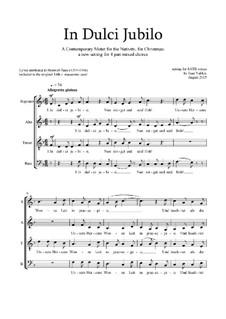 In Dulci Jubilo: Christmas motet: SATB by Joan Yakkey