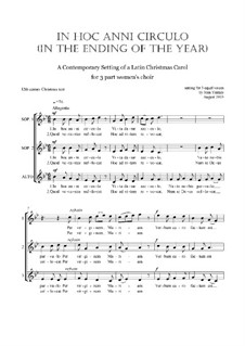 In Hoc Anni Circulo: Christmas motet: SSA by Joan Yakkey