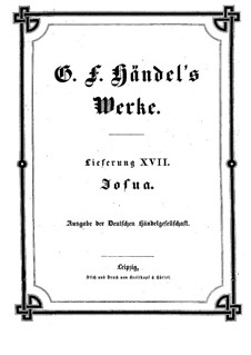 Иисус Навин, HWV 64: Партитура by Георг Фридрих Гендель