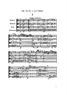 Струнный квартет No.57 до мажор, Hob.III/72 Op.74 No.1: Партитура by Йозеф Гайдн