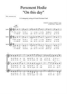 Personent Hodie: Christmas motet: SSA-SAB by Joan Yakkey