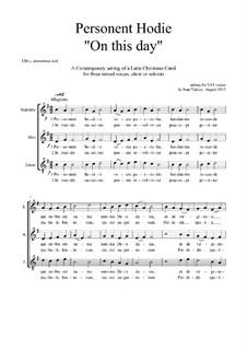 Personent Hodie: Christmas motet: SAT by Joan Yakkey