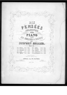 Pensées fugitives, Op.30: Песня, для фортепиано by Стефан Геллер, Генрих Вильгельм Эрнст