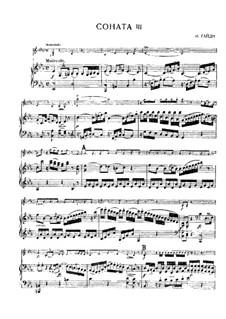 Соната No.3 ми-бемоль мажор: Партитура, сольная партия by Йозеф Гайдн