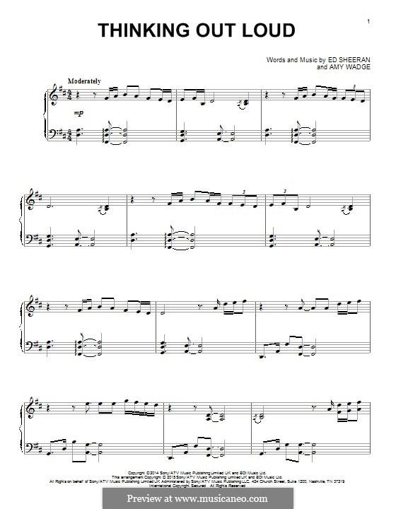 Thinking Out Loud: Для фортепиано by Ed Sheeran, Amy Wadge