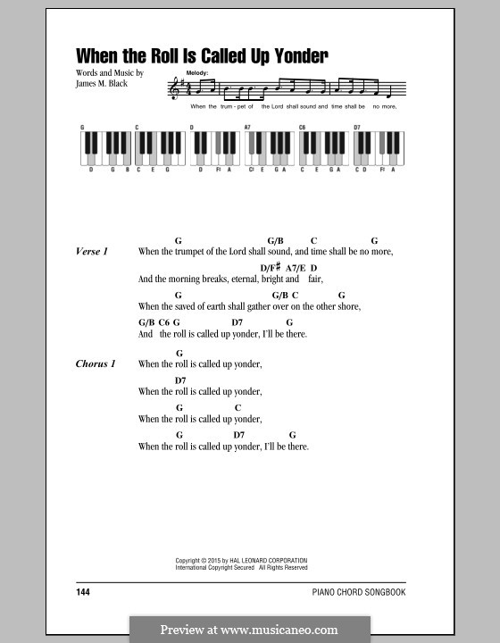 В час, когда труба Господня над землёю прозвучит: Текст, аккорды by James Milton Black