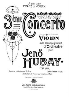 Скрипичный концерт No.3, Op.99: Для скрипки и фортепиано – партитура by Ене Хубаи