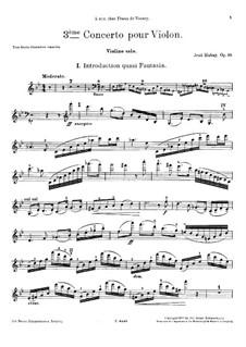 Скрипичный концерт No.3, Op.99: Для скрипки и фортепиано – сольная партия by Ене Хубаи