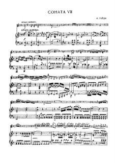 Соната No.7 фа мажор: Партитура, сольная партия by Йозеф Гайдн