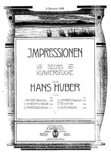 Шесть пьес: No.4 Скерцо by Ханс Хубер