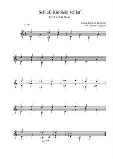 Schlaf, Kindlein schlaf: Folkpicking-Version (für Gitarre) by Иоганн Фридрих Рейхардт