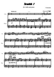 Тарантелла No.2: Для скрипки и фортепиано by Владимир Солонский