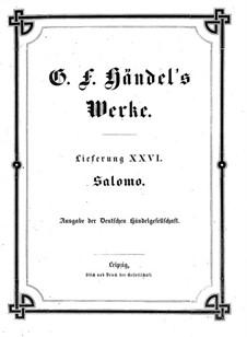 Соломон, HWV 67: Партитура by Георг Фридрих Гендель