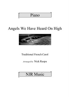 Angels We Have Heard on High, for Piano: Для одного исполнителя by folklore