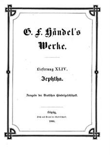 Иеффай, HWV 70: Партитура by Георг Фридрих Гендель