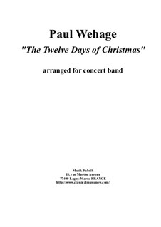 The Twelve Days of Christmas: For concert band – score and complete parts by folklore