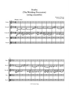 Svatba (The Wedding Procession): For string ensemble by folklore
