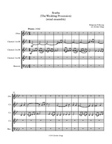Svatba (The Wedding Procession): For wind ensemble by folklore