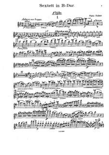 Секстет для флейты, гобоя, кларнета, валторны и фагота: Партии by Ханс Хубер