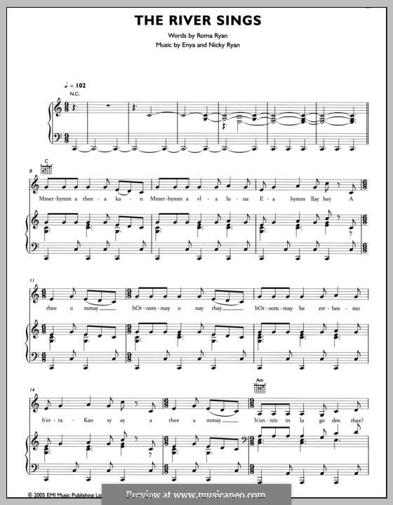 The River Sings: Для голоса и фортепиано (или гитары) by Enya, Nicky Ryan