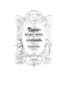 Три фортепианных трио, Op.12, 83, 93: Партитура by Иоганн Непомук Гуммель