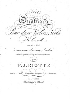 Три струнных квартета, Op.21: Три струнных квартета by Филипп Якоб Риотт