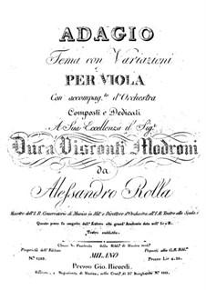 Адажио и тема с вариациями для альта с оркестром, BI 133: Адажио и тема с вариациями для альта с оркестром by Алессандро Ролла