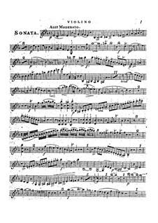 Соната для фортепиано и флейты (или скрипки), Op.22: Партия скрипки by Фридрих Калькбреннер