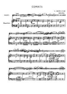 Соната для скрипки и бассо континуо до минор: Версия для скрипки и фортепиано by Франческо Джеминиани