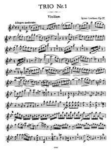 Фортепианное трио No.1 си-бемоль мажор, Op.37: Партия скрипки и альта by Игнац Лахнер