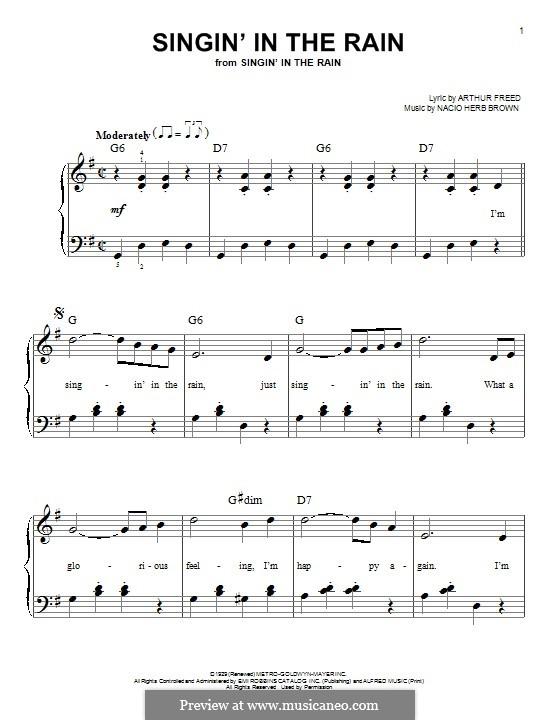 Singin' in the Rain (Gene Kelly): Для фортепиано by Nacio Herb Brown