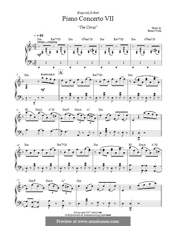 Piano Concerto: Movement VII. The Circus by Robert Wells