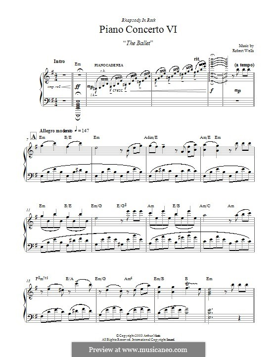 Piano Concerto: Movement VI. The Ballet by Robert Wells