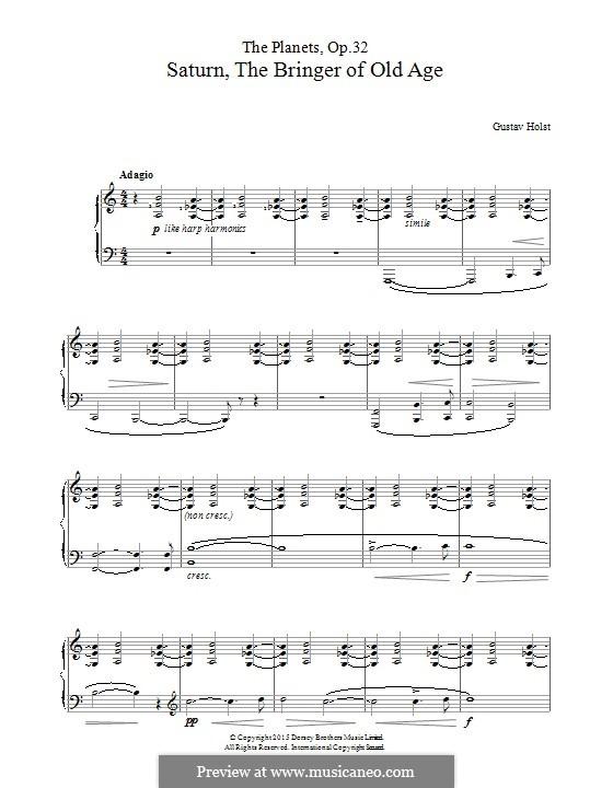 Saturn, the Bringer of Old Age: Для фортепиано by Густав Холст