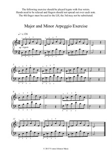 Major and Minor Arpeggio Exercise: Major and Minor Arpeggio Exercise by Yvonne Johnson