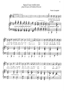 Il Carro Trionfale. Apra il suo verde seno: For soprano and piano by Паоло Квальяти