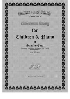 Heaven and Earth - Christmas swing for Children and piano, CS508c: Heaven and Earth - Christmas swing for Children and piano by Santino Cara