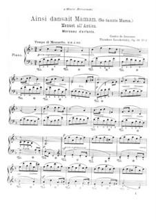 Contes de Jeunesse, Op.46: No.2 Ainsi dansent Maman by Теодор Лешетицкий