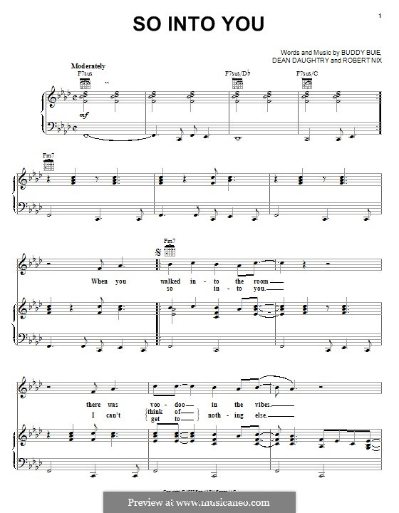 So Into You (Atlanta Rhythm Section): Для голоса и фортепиано (или гитары) by Buddy Buie, Robert Nix, Dean Daughtry