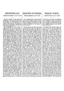 Симфоническая поэма No.8 'Плач о герое' для оркестра, S.102: Партитура by Франц Лист