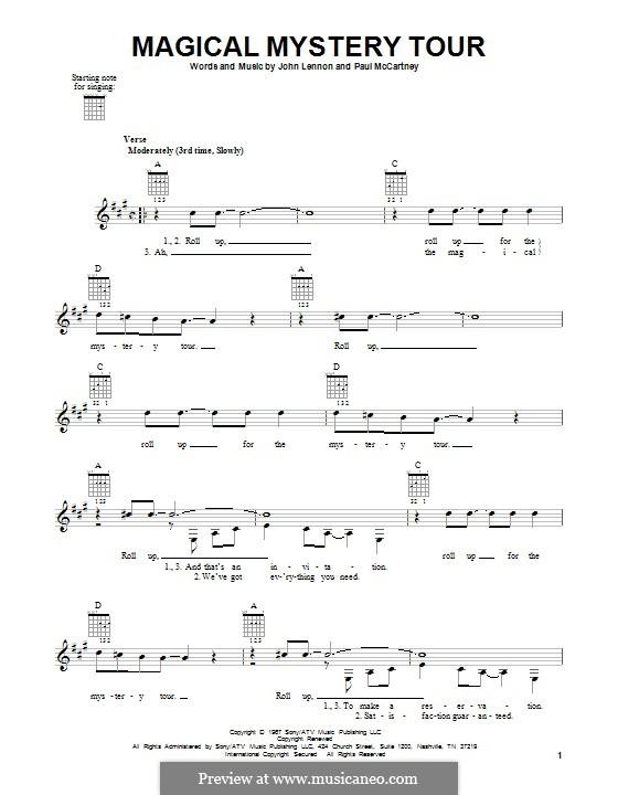 Magical Mystery Tour (The Beatles): Гитарная табулатура by John Lennon, Paul McCartney
